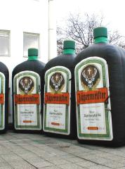 Jägermeister flessen opblaasbaar